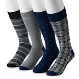 Big & Tall Croft & Barrow® 4-pack Opticool Crew Socks