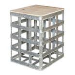 Powell Jayce Galvanized Storage End Table