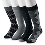 Big & Tall Croft & Barrow® 4-pack Opticool Patterned Crew Socks