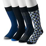 Big & Tall Croft & Barrow® Opticool 4-pack Crew Socks