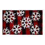 St. Nicholas Square® Buffalo Check Snowflakes Bath Rug