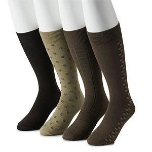 Big & Tall Croft & Barrow® 4-pack Opticool Patterned Dress Socks