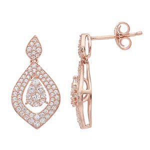 14k Rose Gold 3/4 Carat T.W. Diamond Marquise Dangle Earrings