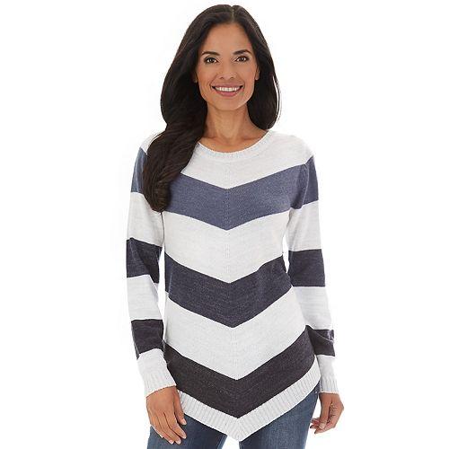 Women's Apt. 9® Varsity Stripe Boatneck Pullover Sweater by Apt. 9