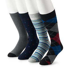 Men's Croft & Barrow® 4-pack Opticool Dress Socks