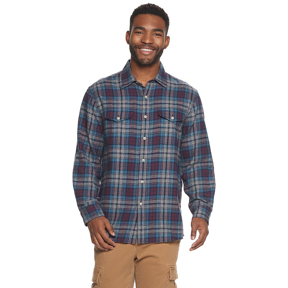 Men's SONOMA Goods for Life® Slim-Fit Super Soft Flannel Button-Down Shirt