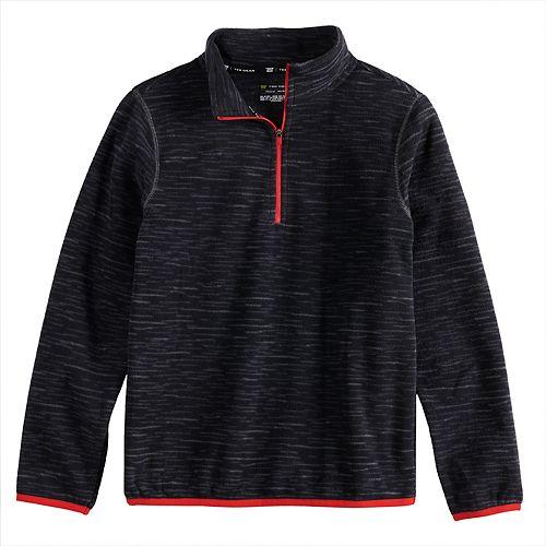 Boys 8-20 Tek Gear® Microfleece Quarter-Zip Pullover in Regular & Husky