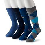 Men's Croft & Barrow® 4-pack Opticool Animal Pattern Crew Socks