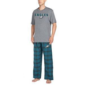 Philadelphia Eagles Men/'s NFL Duo Shirt And Pants Pajama Sleepwear Set