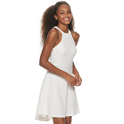 Juniors' Almost Famous Halter High-Low Dress