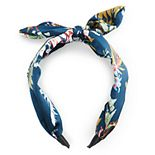 SO® Tropical Floral Hammered Satin Bow Headband