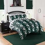 NCAA Michigan State Spartans Queen Bedding Set by Northwest