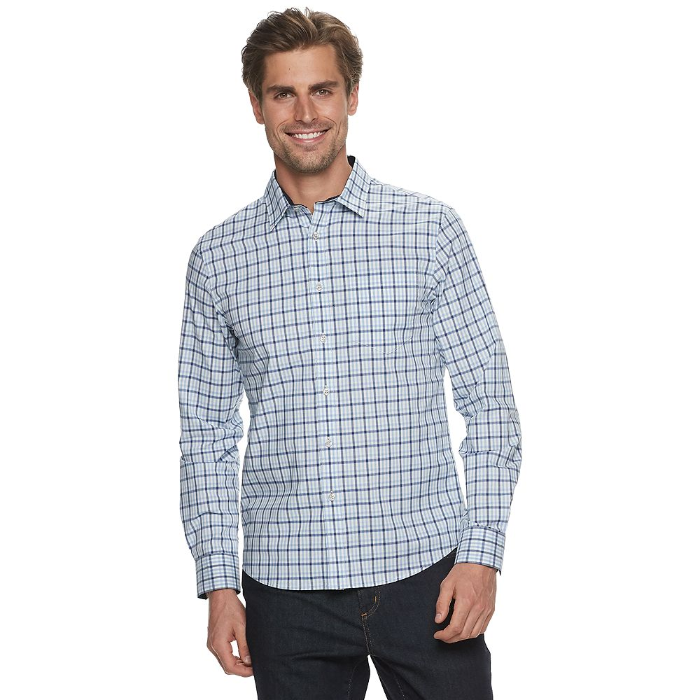 Men's Apt. 9® Slim-Fit Untucked-Fit No-Iron Button-Down Shirt