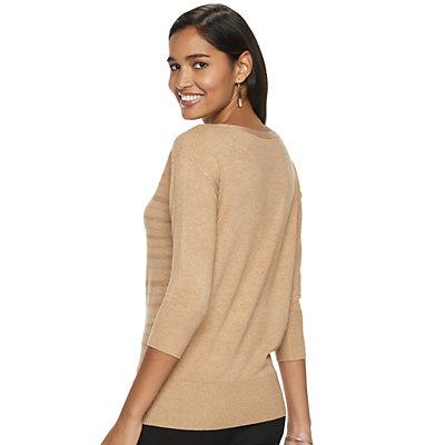 Women's Apt. 9® Banded Bottom Diamond-Sweater