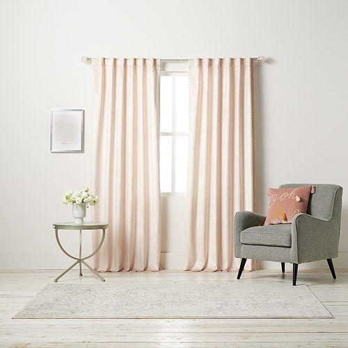 Lc Lauren Conrad Blush Velvet 100 Percents Blackout Window Curtain by Lc Lauren Conrad