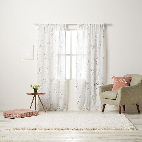 LC Lauren Conrad Floral Sheer Window Curtain
