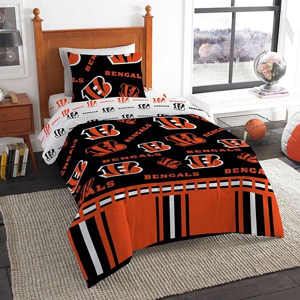 Cincinnati Bengals Nfl Twin Bedding Set, Cincinnati Bengals Queen Size Bedding
