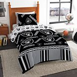 Oakland Raiders Twin Bedding Set by Northwest