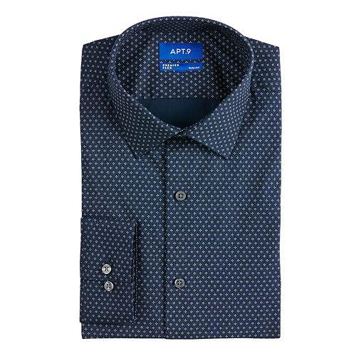 Men's Apt. 9® Slim-Fit Premier Flex Collar Stretch Dress Shirt