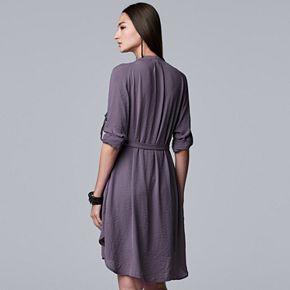 Women's Simply Vera Vera Wang Utility Shirt Dress