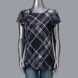 Women's Simply Vera Vera Wang Rayon Print Twisted Tee