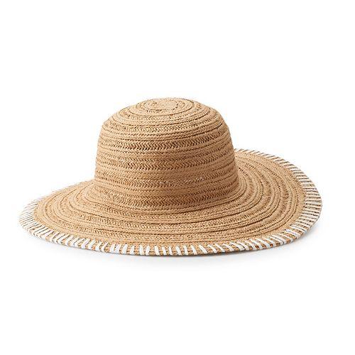 9fc4c4ed1 Women's SONOMA Goods for Life™ Whip Stitch Floppy Hat