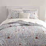 Chaps White Floral 3-Piece Comforter Set