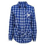 Women's New York Giants Action Plaid Shirt