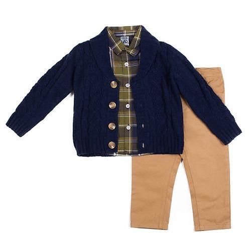 Toddler Boy Little Lad 3-Piece Sweater Set