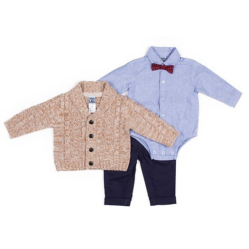 Toddler Boy Little Lad 4-Piece Cardigan Set