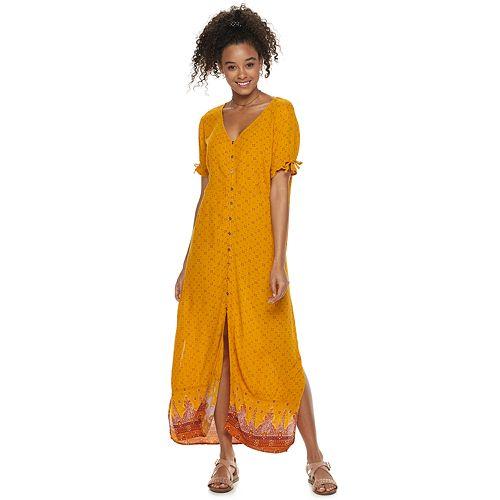 Juniors' Mudd® Button Front Slip Dress