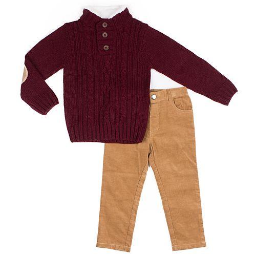 Toddler Boy Little Lad 2-Piece Sweater Set