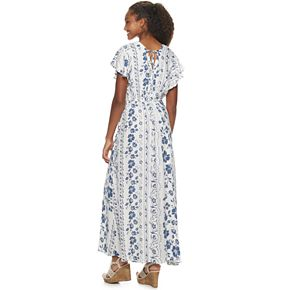 Juniors' American Rag Flutter Sleeve Maxi Dress
