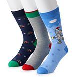 Men's St. Nicholas Square® 3-pack Christmas Socks