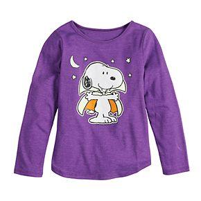 Girls 4-6x Family Fun Peanuts Snoopy Halloween Graphic Tee