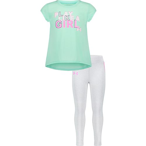 Under Armour Girls T-Shirt Legging Set