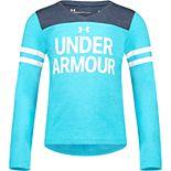 Girls Under Armour 4-6x Long-Sleeved UA Wordmark Varsity Tee