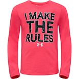 Girls 4-6x Under Armour I Make The Rules Long-Sleeved Tee