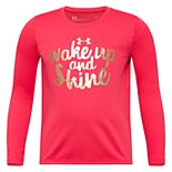 Girls 4-6x Under Armour UA Long-Sleeved Wake Up and Shine Tee