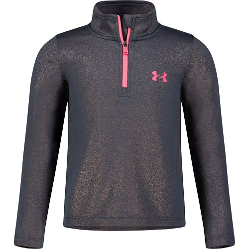 Girls 4-6x Under Armour UA Long-Sleeved Glimmer 1/4 Pullover