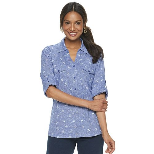 Women's Cathy Daniels Anchor Popover Shirt