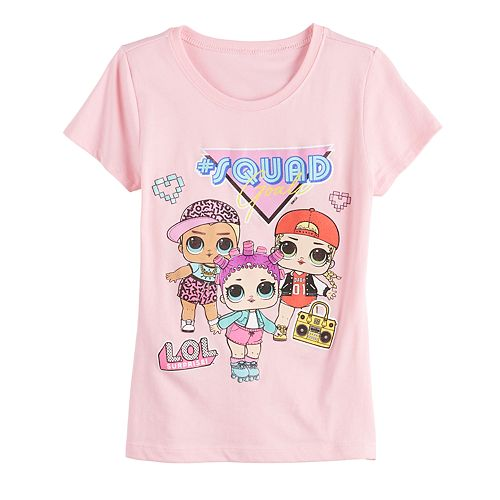 Girls 7-16 Freeze LOL Surprise Squad Goals Short Sleeve Tee