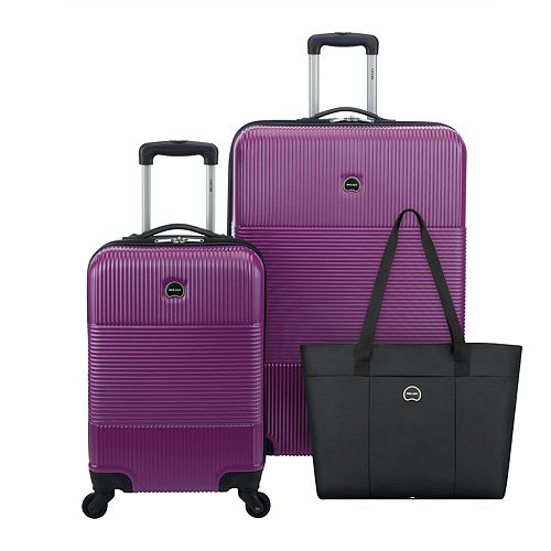 Delsey Paris Groove DLX 3-Piece Hardside Spinner Luggage Set