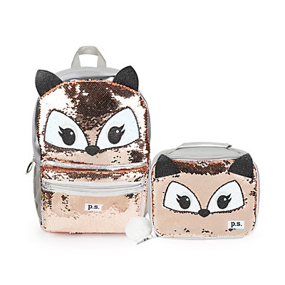 P.S. by Aeropostale Sequin Fox Backpack & Lunch Tote Set