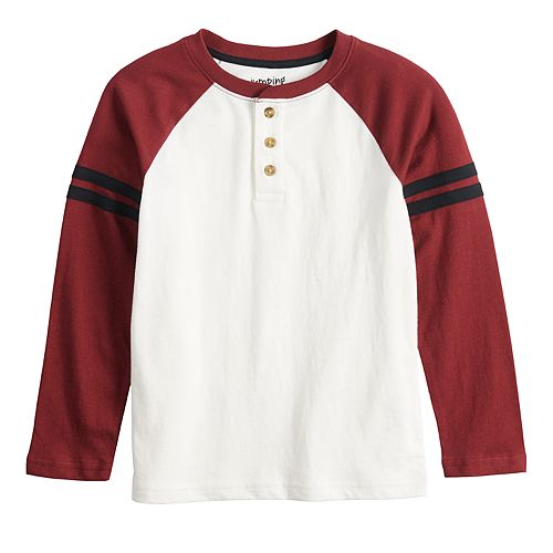 Boys 4-12 Jumping Beans® Long Raglan Sleeve Henley