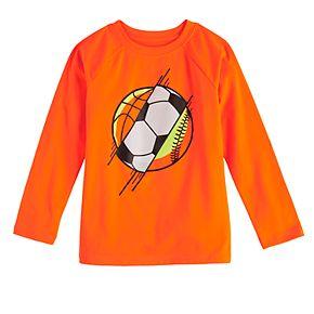 Boys 4-12 Jumping Beans® Long Sleeve Sports Active Tee