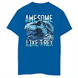 "Boys 8-20 Jurassic World ""Awesome Like T-Rex"" Graphic Tee"