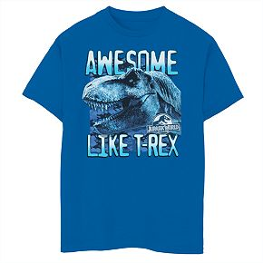 """Boys 8-20 Jurassic World """"Awesome Like T-Rex"""" Graphic Tee"""