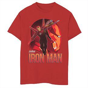 Boys 8-20 Marvel Invincible Iron Man Tee