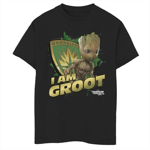 "Boys 8-20 Marvel Guardians of the Galaxy ""I Am Groot"" Tee"